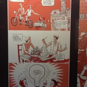 The History of Foyles In Comic Book Form