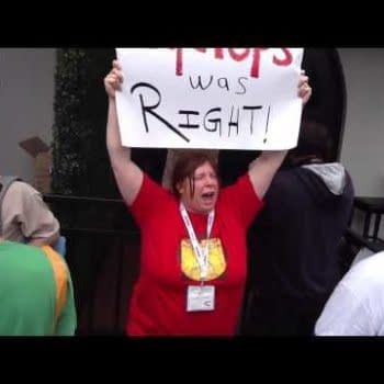 Protesting Trask Industries At San Diego #OnlyAtCon