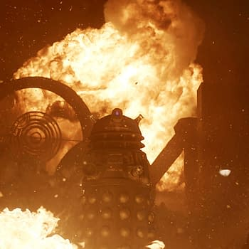 Doctor Who 50th Anniversary Special Images Of The Daleks Surrounded By Flames