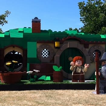 The Giant Lego Hobbits And Batman Of San Diego Comic Con