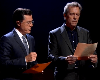 Hugh Laurie And Stephen Colbert Read A List Of Words You CAN Say On Comedy Central