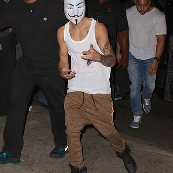 V For Vacant Justin Bieber Puts On The Mask