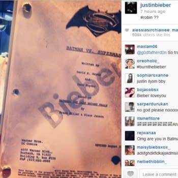 Justin Bieber Teases Internet With Robin Role, And Batman Vs Superman Script Based On Dark Knight Returns…