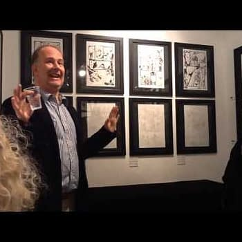 Mark Buckingham Opens His Fables Exhibition At Orbital Comics By Guiding Us All Round It