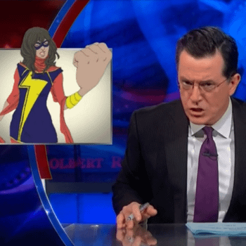 """Stephen Colbert On Marvel's New Muslim Superhero – """"For Pete's Sake, They're On The No Fly List"""""""