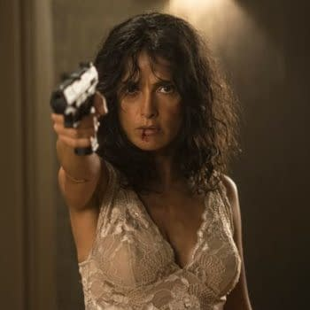 Salma Hayek Is Bloodied, Armed And Dangerous In First Photo From Assassin Thriller, Everly