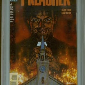 Unslabbed Preacher #1 Sells For $385. Slabbed For $650. Preview For $610.