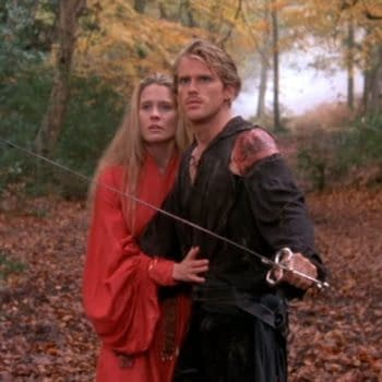 Robin Wright as Buttercup and Cary Elwes as Westley in The Princess Bride (1987). Image courtesy of 20th Century Studios