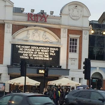 How The Ritzy Cinema In Brixton Is Billing The New Hobbit Film This Morning