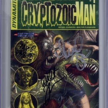 Cryptozoic Man #1, Signed By The Comic Book Men With A 9.9 CGC Grade Sells For Four Figures