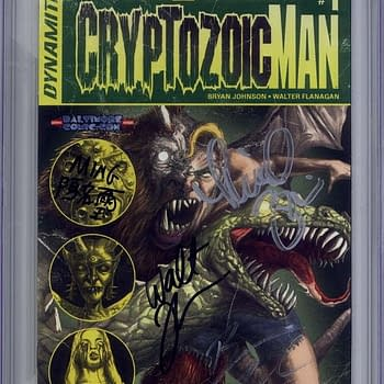 Cryptozoic Man #1 Signed By The Comic Book Men With A 9.9 CGC Grade Sells For Four Figures