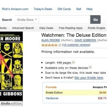 Watchmen Deluxe On Kindle, 448 Pages For Five Bucks