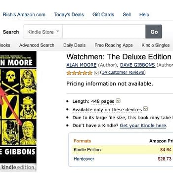 Watchmen Deluxe On Kindle 448 Pages For Five Bucks