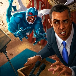 Dark Horse Reveals Process Art on Skymans Variant Obama Cover
