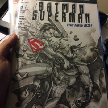 Stolen: Sketch Covers From ECCC – Batman/Superman And Amazing Spider-Man