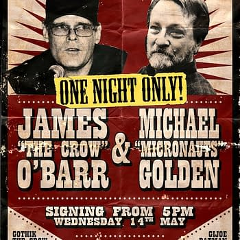 Michael Golden and James OBarr Extend Todays Signing At Orbital Comics London