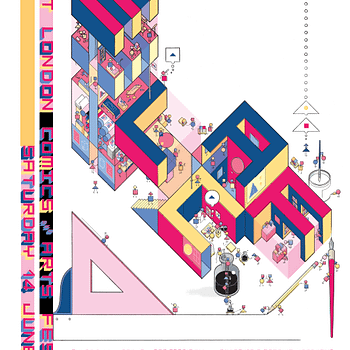 Chris Wares Poster For Todays East London Comic Art Festival