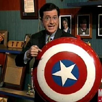 New Marvel Title To Be Announced On Tonights Colbert Report. I Think Its Captain America With Sam Wilson In The Lead