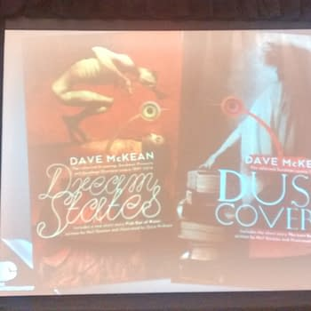 New Edition Of Dave McKeans Dustcovers For Sandman Also Dreamstates and New Stories By McKean and Gaiman In Each
