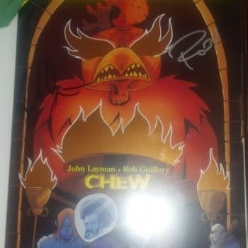 Warrior Chicken Poyo, Foiled, Launched And Reviewed At San Diego Comic Con