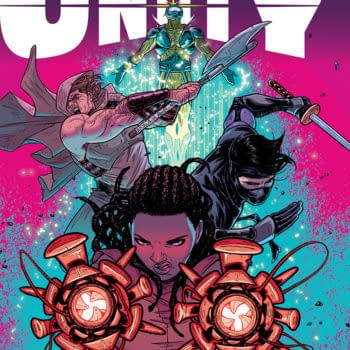 Triple Shot Previews – Archer & Armstrong #23, Armor Hunters #3, Unity #10