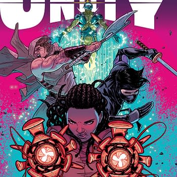 Triple Shot Previews &#8211 Archer &#038 Armstrong #23 Armor Hunters #3 Unity #10