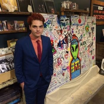 Gerard Way Made Some Art – With A Few Hundred Fans – Last Night For New Solo Album Hesitant Alien