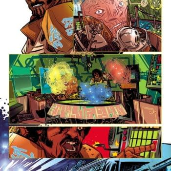 Process Art For Captain Victory #3 By Nathan Fox