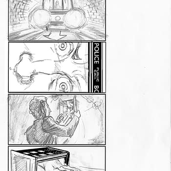 Mike Collins Storyboards From Doctor Who: Flatline For The Addams Family Bit