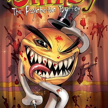 Hes The Ultimate Agent Of Evil Contained In A Bright And Happy Little Button &#8211 Mike Raicht On Smiley The Psychotic Button