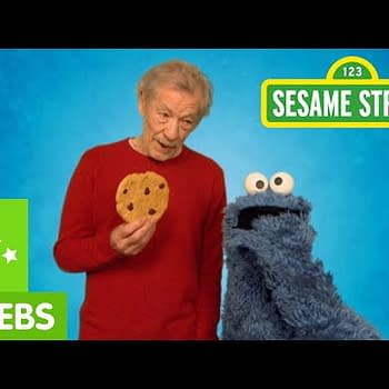 Sir Ian McKellen Teaches Cookie Monster Some Restraint