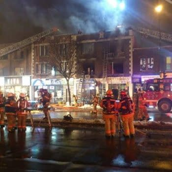 Fire At Komico Of Montreal….