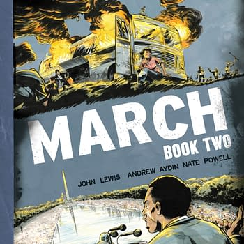 Rep. John Lewis, Andrew Aydin And Nate Powell March On