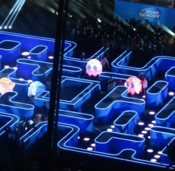 Life Size Pac-Man Maze Constructed For SuperBowl Ad