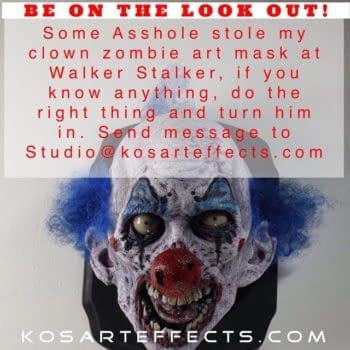 Have You Seen This Zombie Clown Mask? And Have Stopped Shivering?