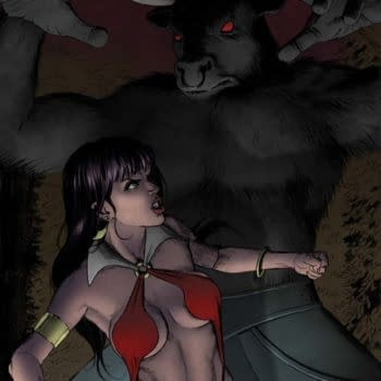 """""""Unflattering Raccoon Eyes"""" And Other Things Seen On Vampirella Process Art."""