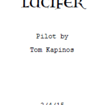 I've Just Read The Lucifer Pilot. And It's A Cop Show With A Cute Kid.
