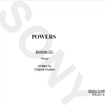 I've Just Read The Pilot Script To 'Powers' TV Show For Sony