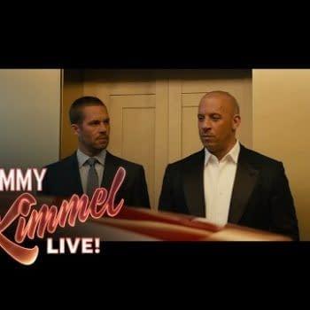 """It's A Sea Of Bald Men"" – Vin Diesel Talks To Jimmy Kimmel About Furious 7"