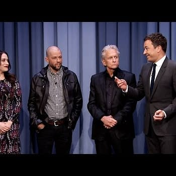 Ant-Mans Michael Douglas Plays Charades With Thors Kat Dennings