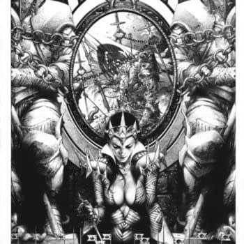 Blood Queen Vs. Dracula Process Art By Jay Anacleto And Kewber Baal
