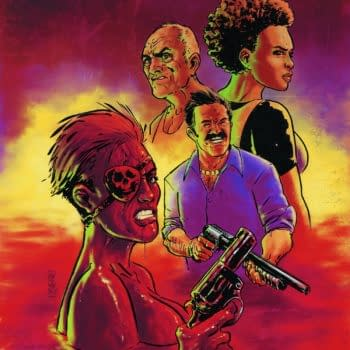 Shotguns, Cybernetics, And A Return To Blood Lagoon! Preview 8 Pages Of Grindhouse: Drive In, Bleed Out #4 From Dark Horse