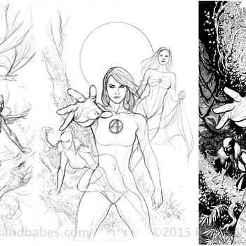 Evolution Of A Fantastic Four Cover By Frank Cho