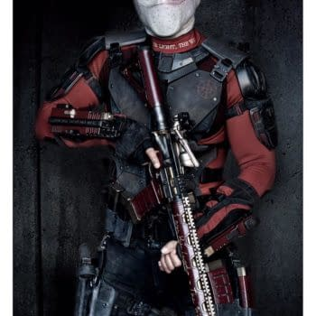 Will Smith Wears The Deadshot Mask… Or Something Like It