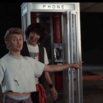 Alex Winter and Keanu Reeves in Bill & Ted's Excellent Adventure. Image courtesy of Orion Pictures