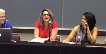 The Women Of Marvel Panel At ACBC With Sana Amanat Katie Kubert And Judy Stephens
