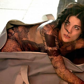 Jaimie Alexander Naked And Tattooed In Time Square