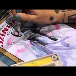 Sara Richard Sketchcovers Sandman: Overture At Phoenix Comic Con (VIDEO)