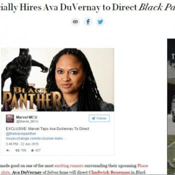 Vanity Fair Mistook Rumour Site As Official Confirmation That Ava DuVernay Is Directing Black Panther (UPDATE)