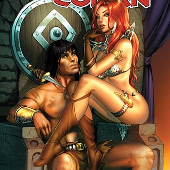 Dawn McTeigue's Process Art For Red Sonja / Conan Cover
